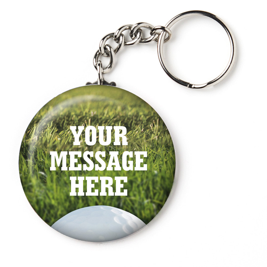 """View larger image of Golf Personalized 2.25"""" Key Chain (Each)"""