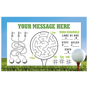 Golf Personalized Activity Mat (Each)