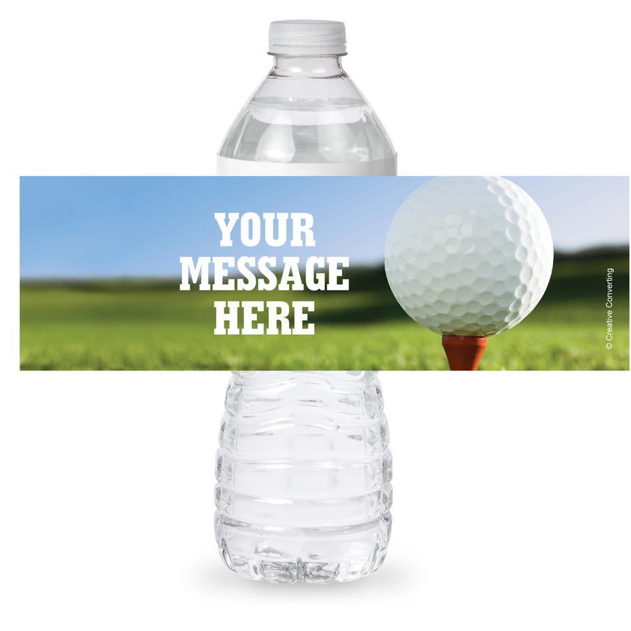 View larger image of Golf Personalized Bottle Label (Sheet of 4)