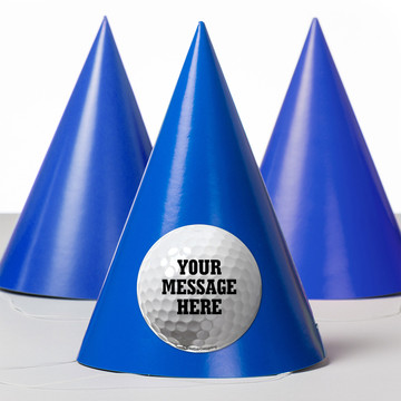 Golf Personalized Party Hats (8 Count)