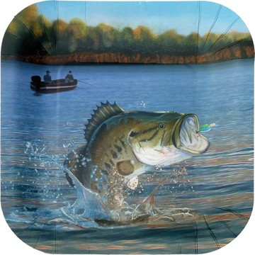 "Gone Fishin' 9"" Plates-Square (8 pack)"