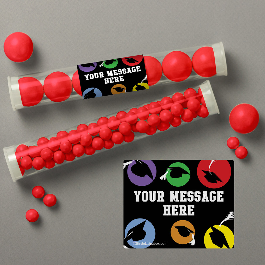 View larger image of Grad Party Personalized Candy Tubes (12 Count)
