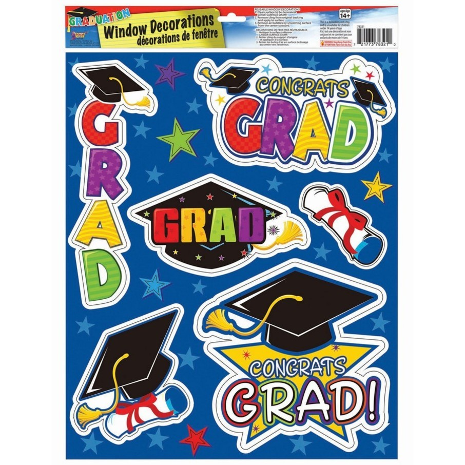 View larger image of Grad Removable Window Clings (6pcs)