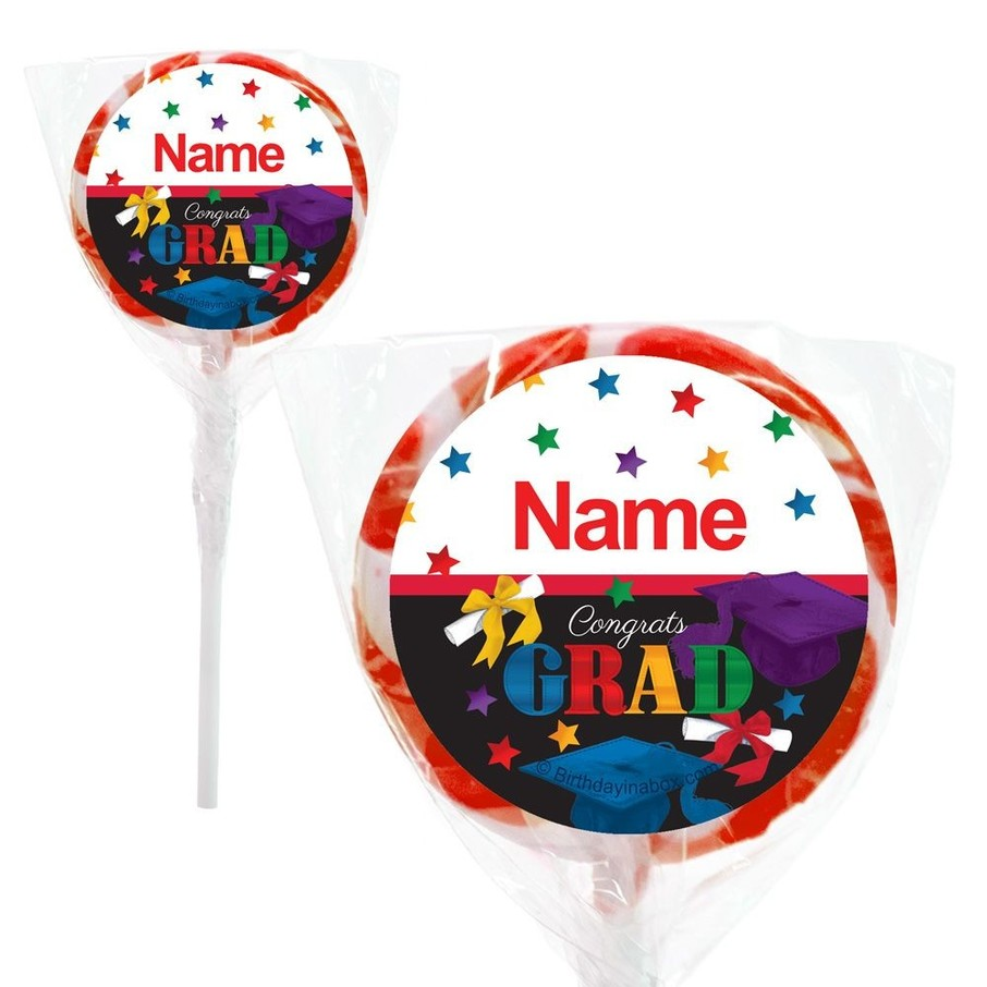 """View larger image of Grad Spirit Personalized 2"""" Lollipops (20 Pack)"""