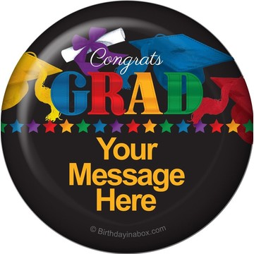 Grad Spirit Personalized Button (Each)