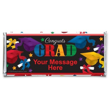 Grad Spirit Personalized Candy Bar Wrapper (Each)