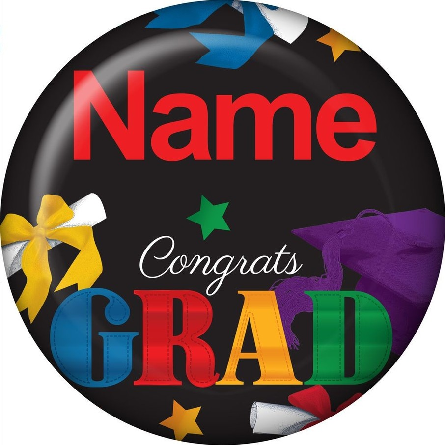 View larger image of Grad Spirit Personalized Mini Button (Each)