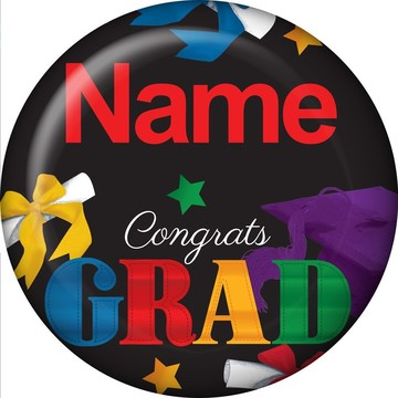 Grad Spirit Personalized Mini Magnet (Each)