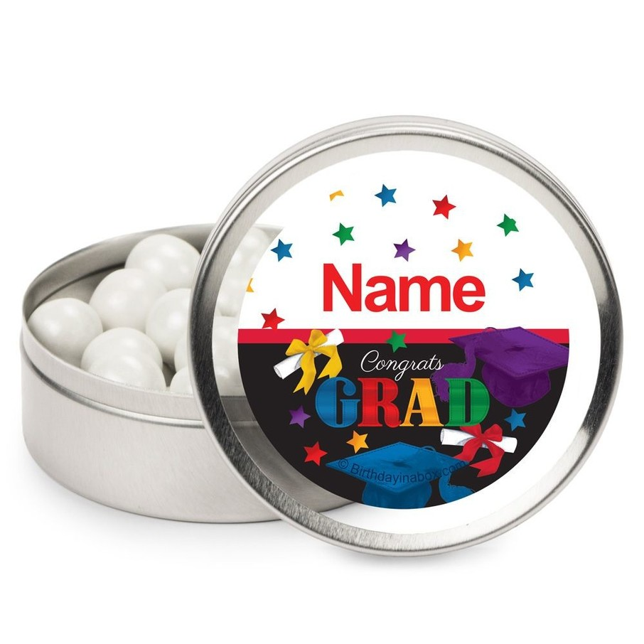 View larger image of Grad Spirit Personalized Mint Tins (12 Pack)
