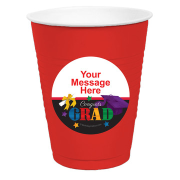 Grad Spirit Personalized Party Cups, 50ct