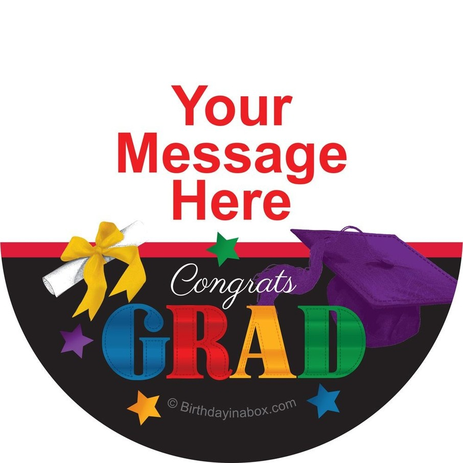 View larger image of Grad Spirit Personalized Stickers (Sheet of 12)