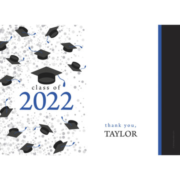 Graduation Day Blue Personalized Thank You (Each)