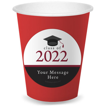 Graduation Day Burgundy Personalized Cups (8)
