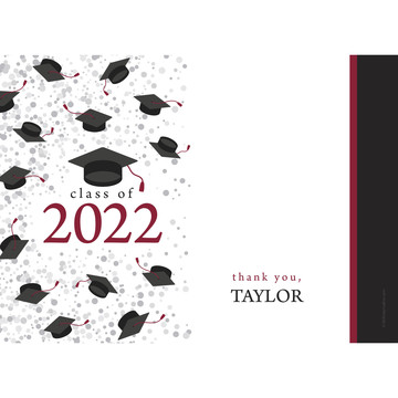 Graduation Day Burgundy Personalized Thank You (Each)