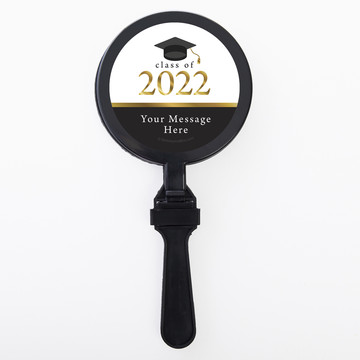 Graduation Day Gold Personalized Clappers (Set Of 12)