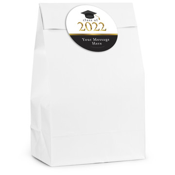 Graduation Day Gold Personalized Favor Bag (12 Pack)
