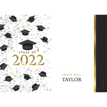 Graduation Day Gold Personalized Thank You (Each)