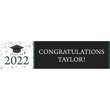 Graduation Day Green Personalized Banner (Each)