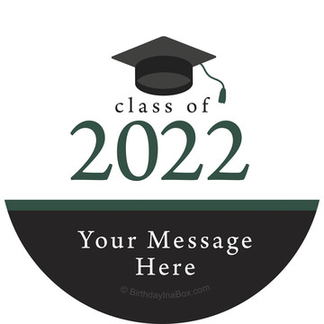 Graduation Day Green Personalized Stickers (Sheet of 12)
