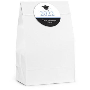 Graduation Day Light Blue Personalized Favor Bag (12 Pack)