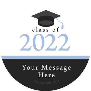 Graduation Day Light Blue Personalized Stickers (Sheet of 12)