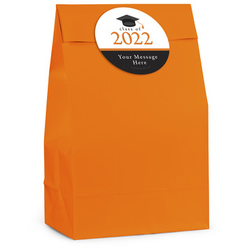 Graduation Day Orange Personalized Favor Bag (12 Pack)