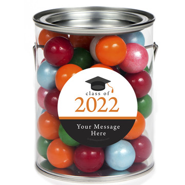 Graduation Day Orange Personalized Paint Cans (6 Pack)