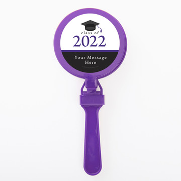 Graduation Day Purple Personalized Clappers (Set Of 12)