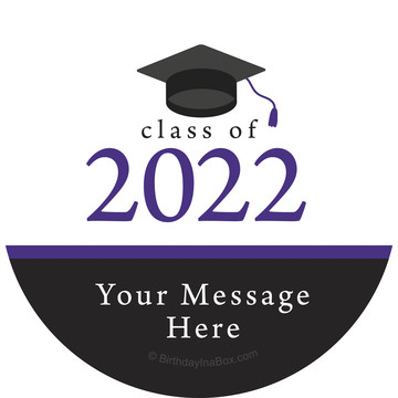 Graduation Day Purple Personalized Stickers (Sheet of 12)