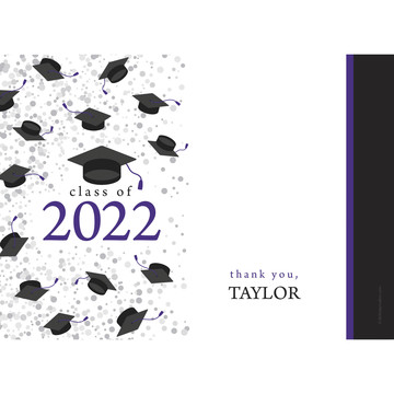 Graduation Day Purple Personalized Thank You (Each)