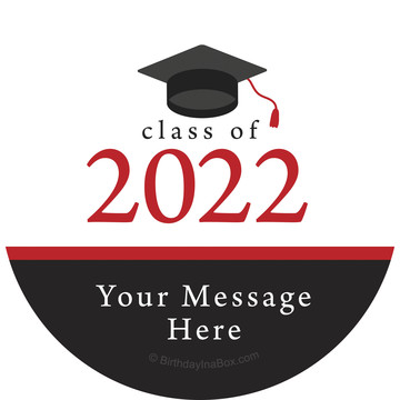Graduation Day Red Personalized Stickers (Sheet of 12)