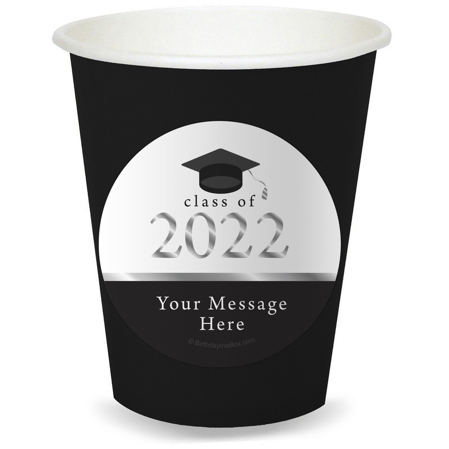 View larger image of Graduation Day Silver Personalized Cups (8)