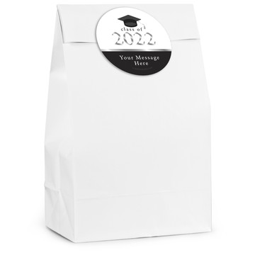 Graduation Day Silver Personalized Favor Bag (12 Pack)