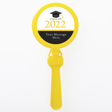 Graduation Day Yellow Personalized Clappers (Set Of 12)
