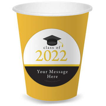 Graduation Day Yellow Personalized Cups (8)