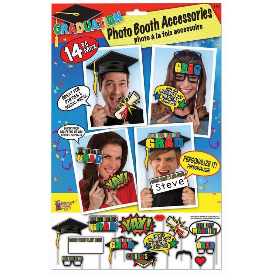 View larger image of Graduation Photo Booth Set (14pc)