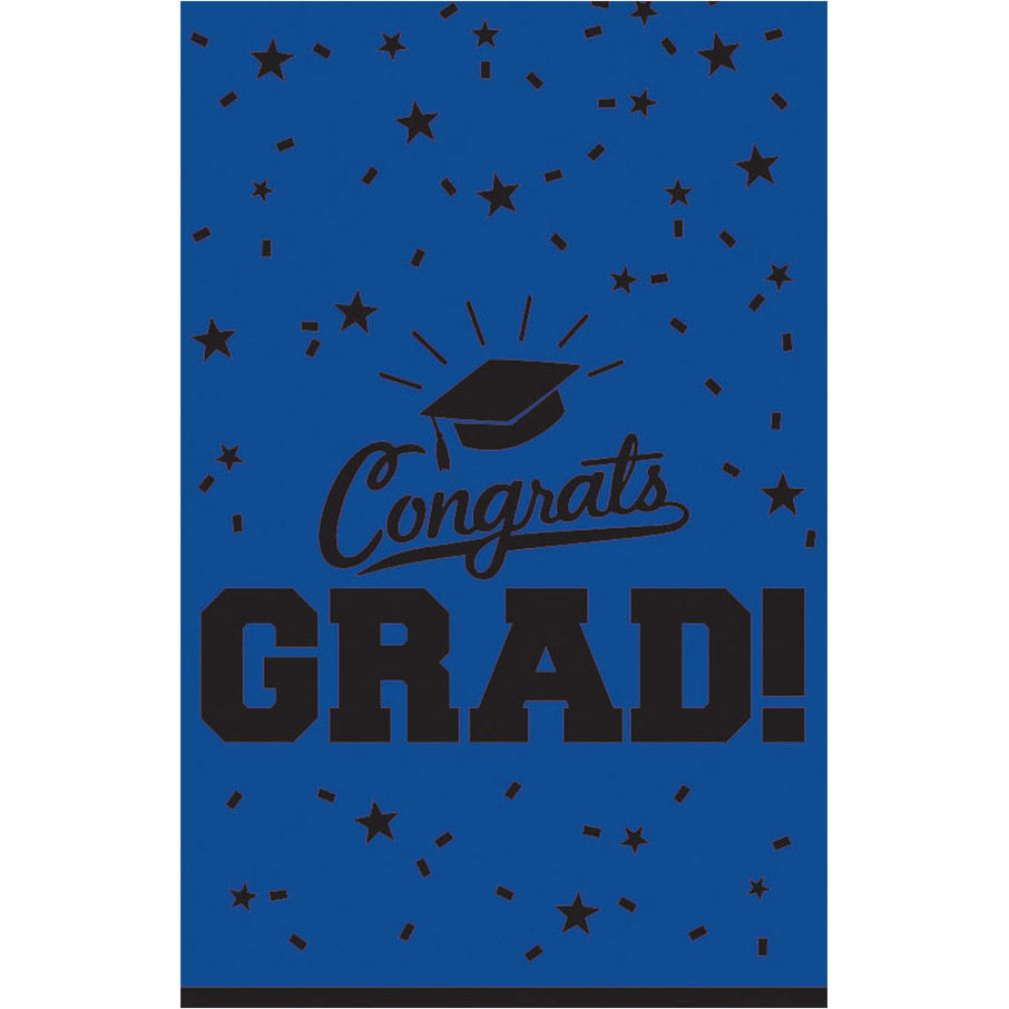 View larger image of Graduation Table Cover Blue Each