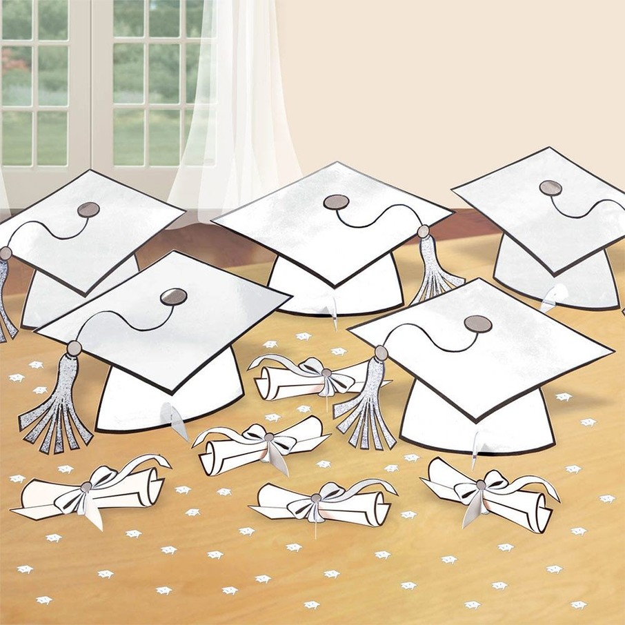 View larger image of Graduation Table White Decorating Kit (Each)