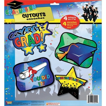 Graduation Wall Cut Out Decorations (4pcs)