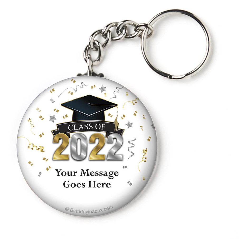 """View larger image of Graduation Year Personalized 2.25"""" Key Chain (Each)"""
