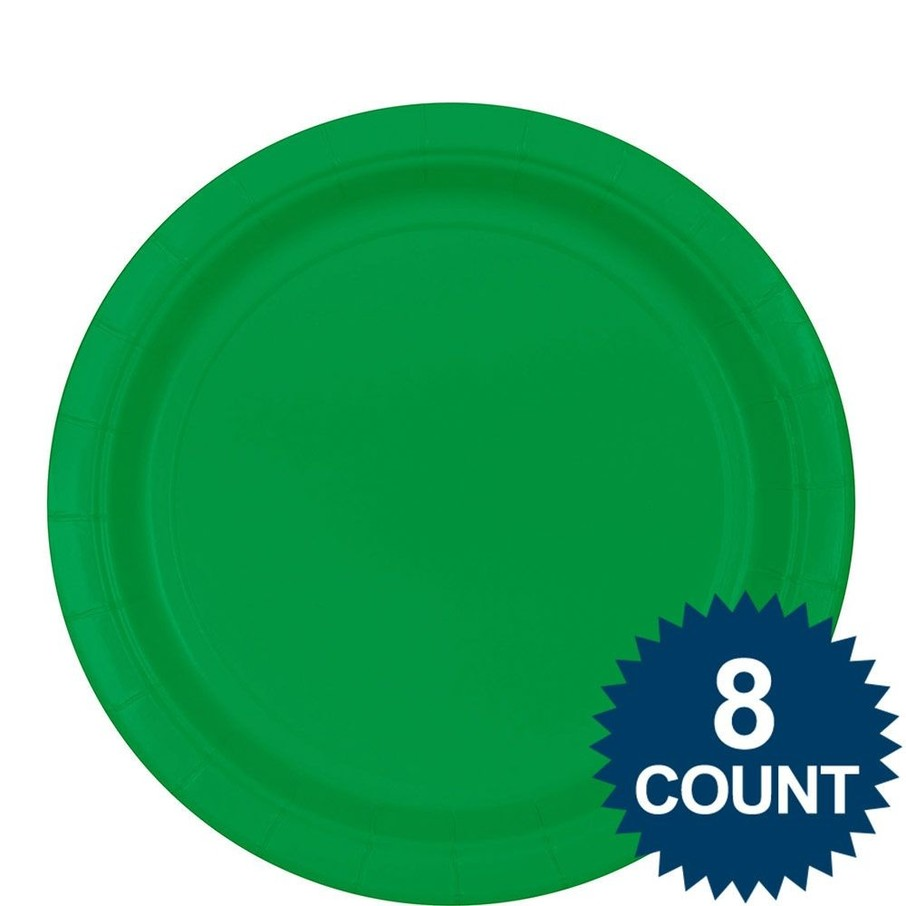 View larger image of Green 9 ?Paper Luncheon Plates (8 Pack)