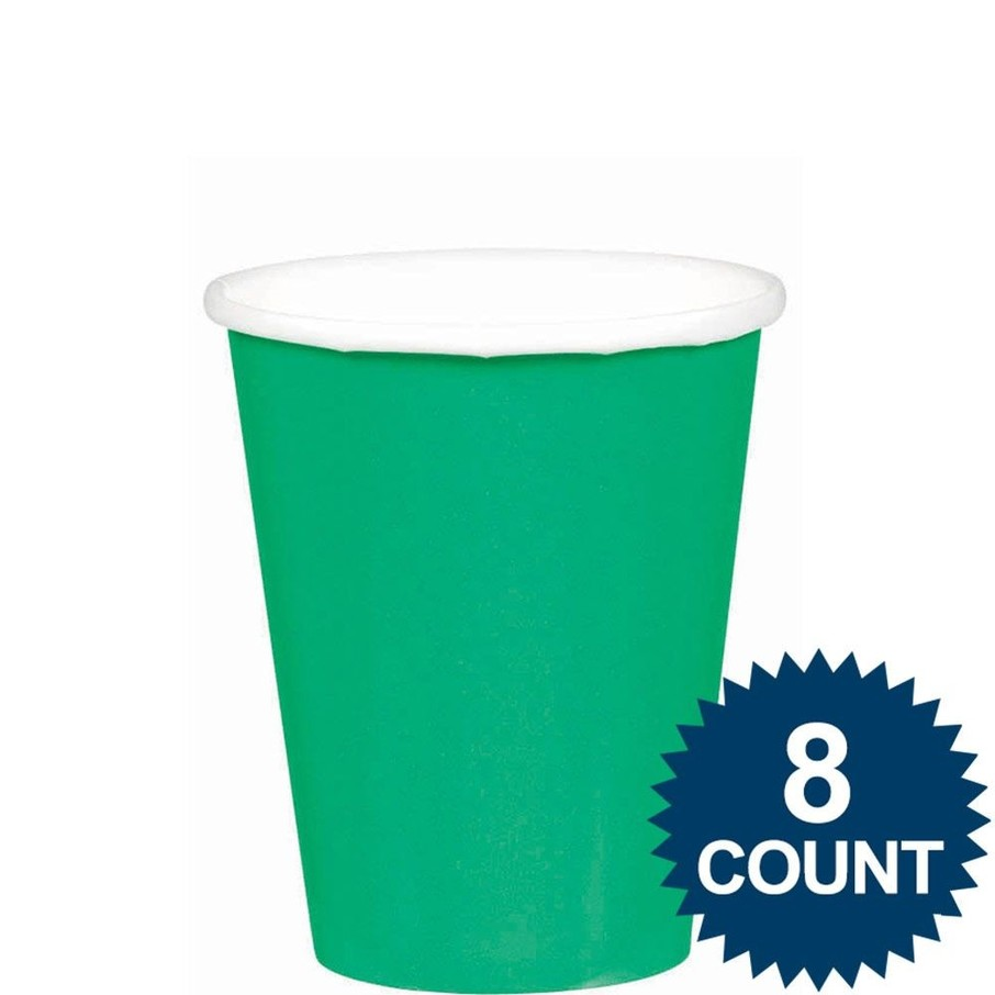 View larger image of Green 9oz. Paper Cups (8 Pack)