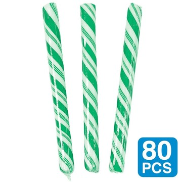 "Green Lime Flavored 5"" Candy Sticks (80 Pack)"