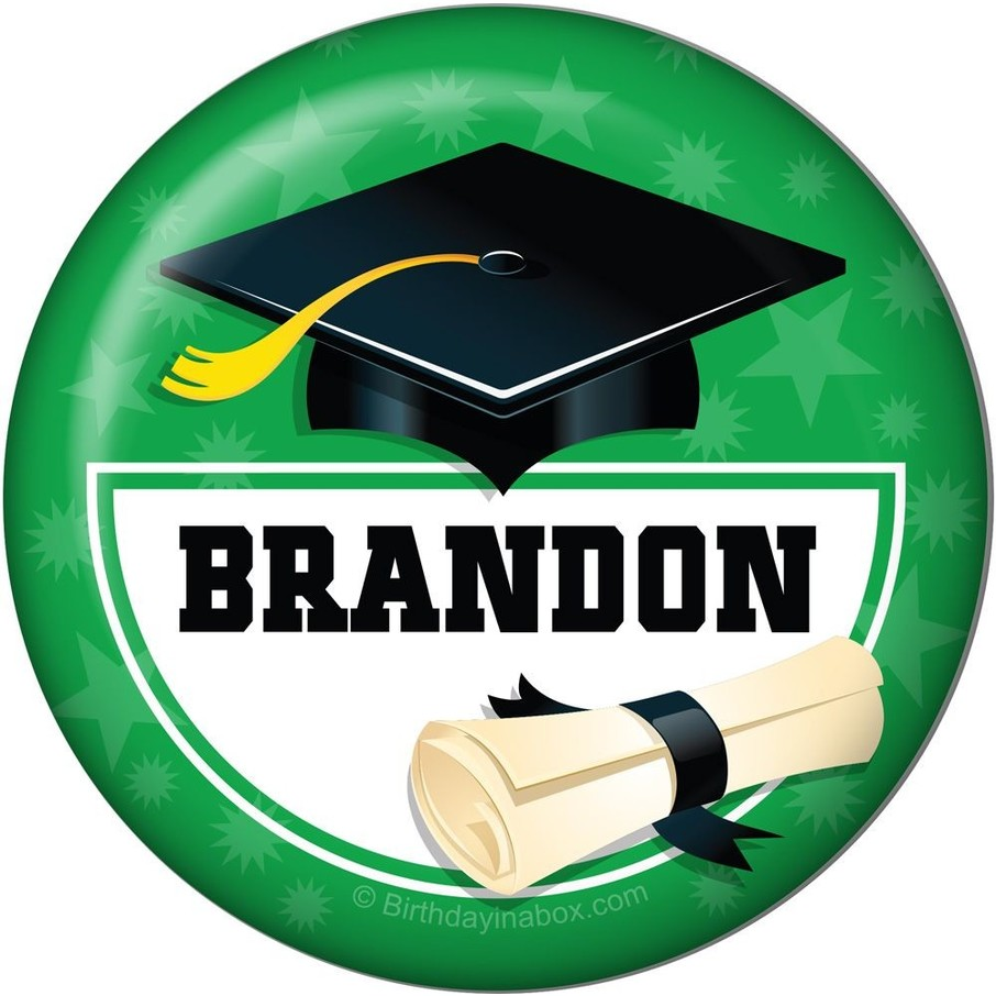View larger image of Green Grad Personalized Button (Each)