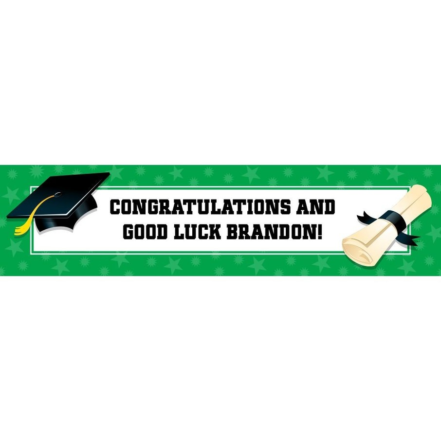 View larger image of Green Graduation Personalized Banner (Each)