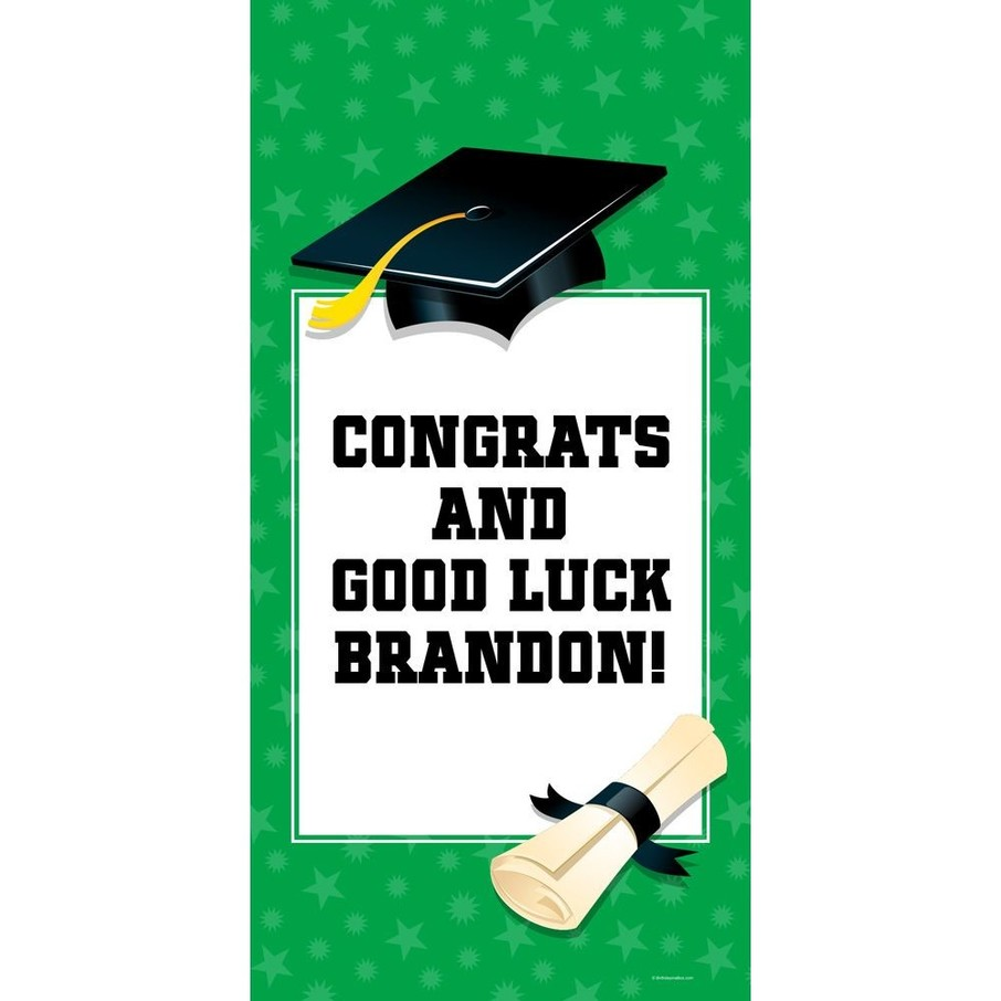 "View larger image of Green Graduation Personalized Giant Banner 30x60"" (Each)"