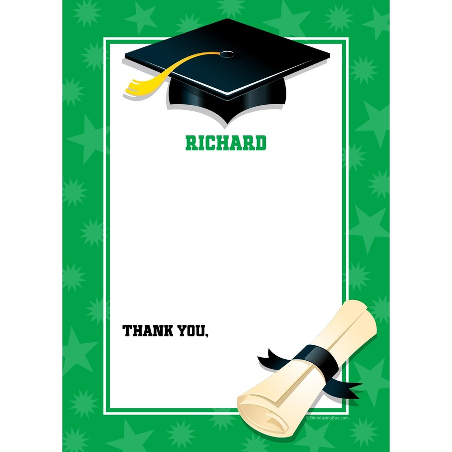 View larger image of Green Graduation Personalized Thank You (Each)