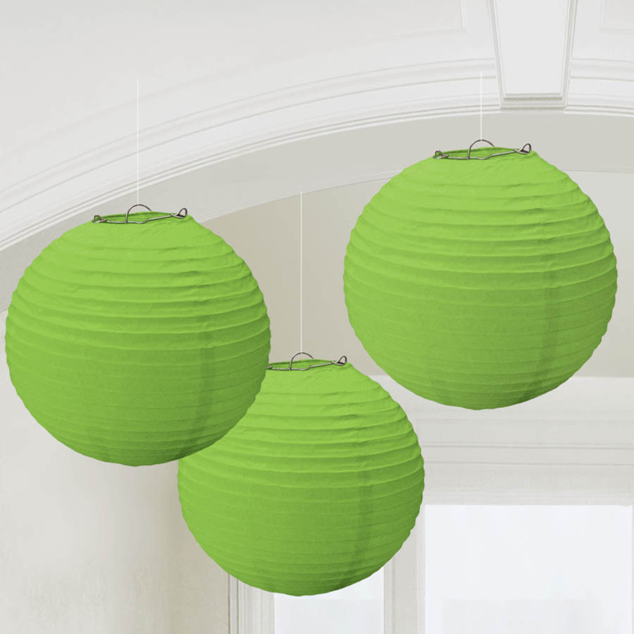 View larger image of Green Paper Lantern Decorations (3 Count)