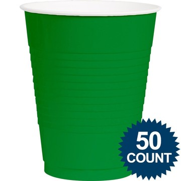 Green Plastic 16oz. Cup (50 Pack)