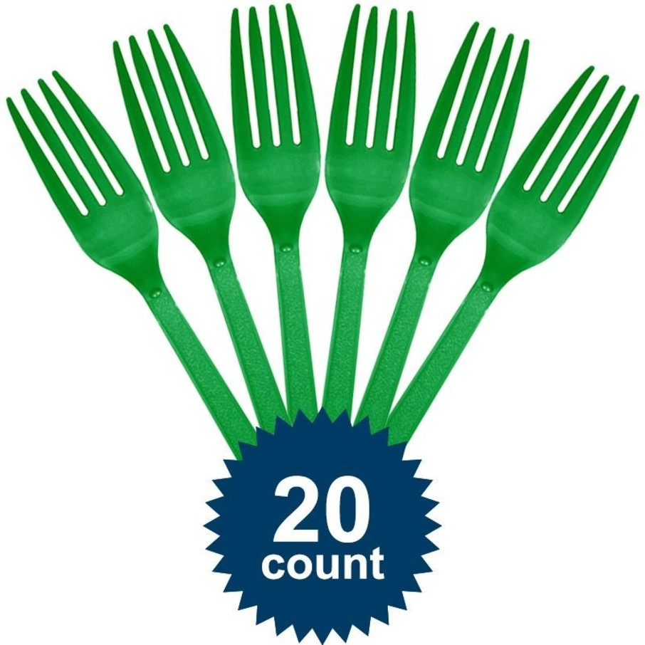 View larger image of Green Plastic Forks